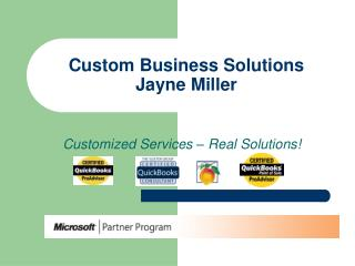 Custom Business Solutions Jayne Miller