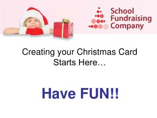 Creating your Christmas Card Starts Here…