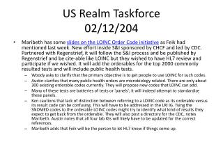 US Realm Taskforce 02/12/204
