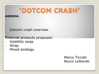 'DOTCOM CRASH'