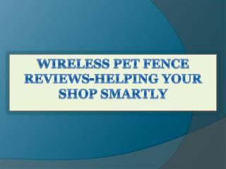 Wireless Pet Fence Reviews-Helping Your Shop Smartly