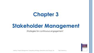 Chapter  3 Stakeholder Management