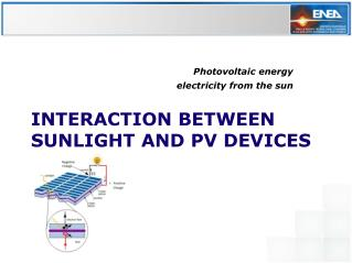 interaction between sunlight and pv devices