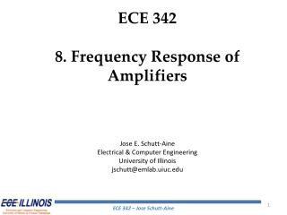 ECE 342 8. Frequency Response of Amplifiers