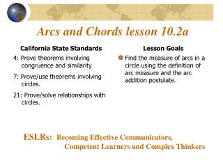 Arcs and Chords lesson 10.2a