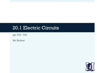20.1 Electric Circuits