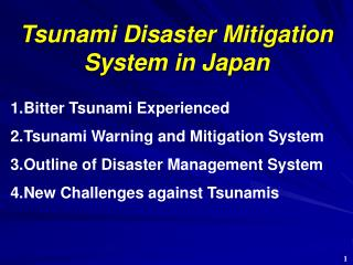 Tsunami Disaster Mitigation  System in Japan