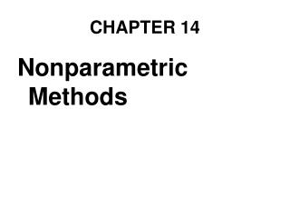 Nonparametric Methods