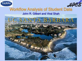Workflow Analysis of Student Data
