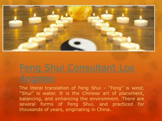 Feng Shui Consultant Orange County