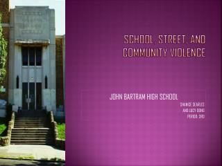 SCHOOL, STREET,  AND COMMUNITY VIOLENCE