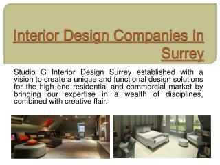 Interior Design Companies In Surrey