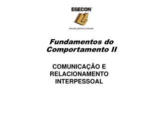 Fundamentos do Comportamento II