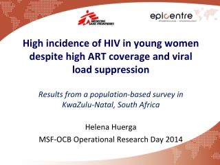 Helena  Huerga MSF-OCB Operational Research Day 2014