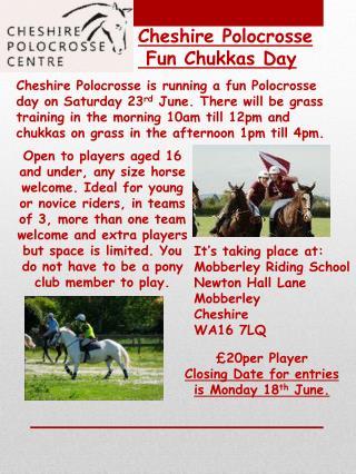 Cheshire Polocrosse Fun Chukkas Day