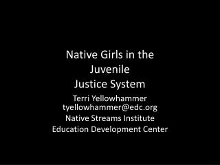 Native Girls in the  Juvenile Justice System