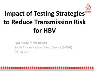 Impact of Testing Strategies to Reduce Transmission Risk for HBV