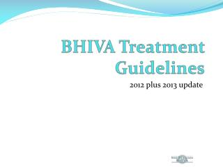BHIVA Treatment Guidelines