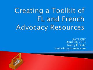 Creating a Toolkit of FL and French Advocacy Resources