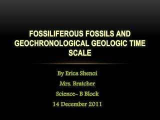 fossiliferous  Fossils and   geochronological Geologic Time Scale