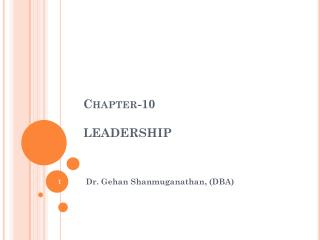 Chapter-10 LEADERSHIP