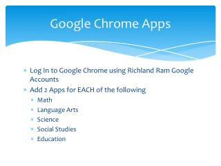 Google Chrome Apps