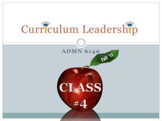 Curr culum Leadersh p