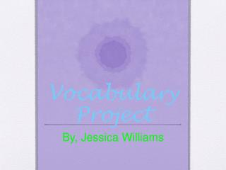 Vocabula ry  Project