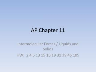 AP Chapter 11