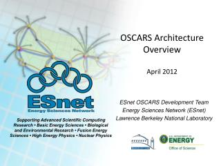 OSCARS Architecture Overview April 2012