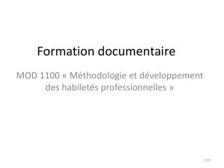 Formation documentaire