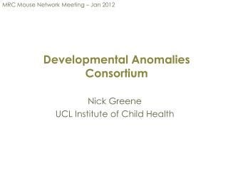 Developmental Anomalies Consortium