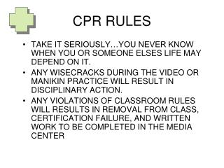 CPR RULES