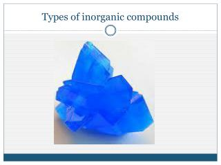 Types of inorganic compounds