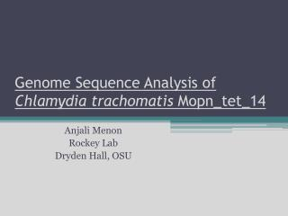 Genome Sequence Analysis of  Chlamydia  trachomatis  Mopn_tet_14
