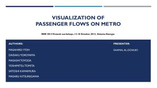 Visualization of  Passenger  Flows on Metro