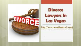 Divorce Lawyers In Las Vegas
