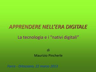 APPRENDERE NELL'ERA DIGITALE