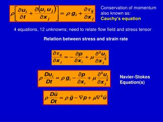 Conservation of momentum also known as:  Cauchy's equation