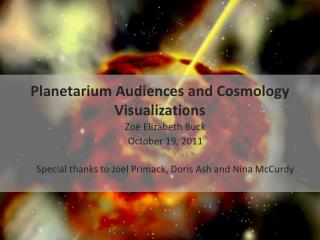 Planetarium Audiences and Cosmology Visualizations