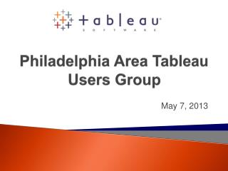 Philadelphia Area Tableau Users Group