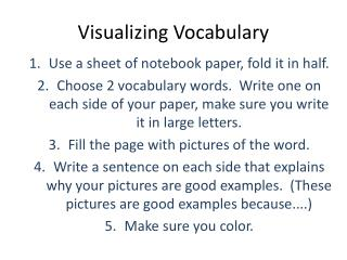 Visualizing Vocabulary