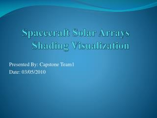 Spacecraft Solar Arrays Shading Visualization