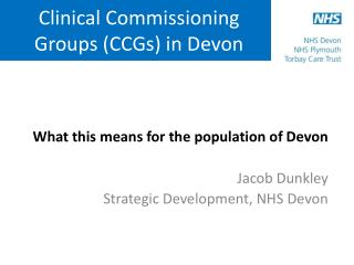 Clinical Commissioning Groups (CCGs) in Devon