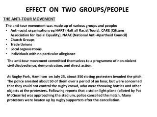 EFFECT  ON  TWO  GROUPS/PEOPLE