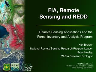 FIA, Remote Sensing and REDD