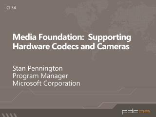 Media Foundation:  Supporting Hardware Codecs and Cameras