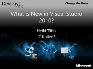 What is New in Visual Studio 2010?