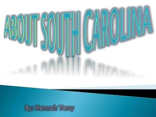 About South Carolina