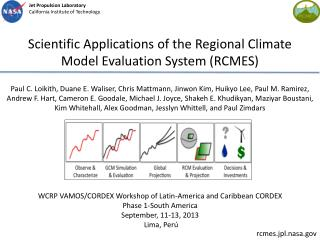 Scientific Applications of the Regional Climate Model Evaluation System (RCMES)